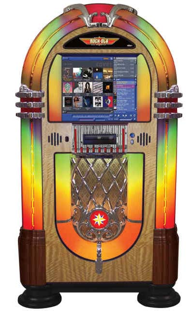 Rock Ola Digital Bubbler Jukebox Billiards N More