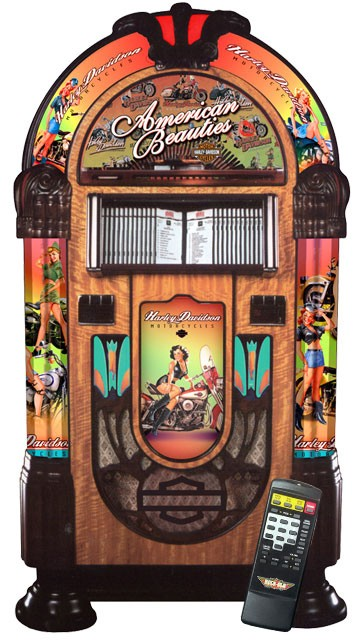 Harley Davidson Cd Juke Box By Rockola Billiards N More