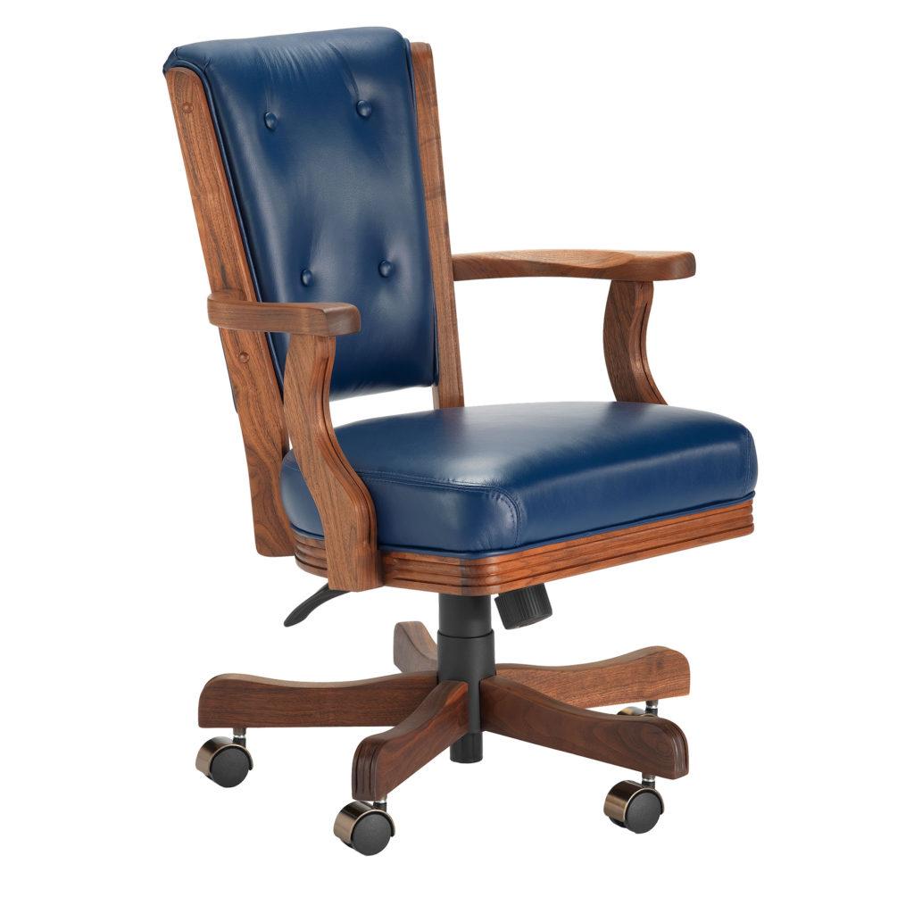 860 High Back Walnut Game Chair Darafeev Billiards N More
