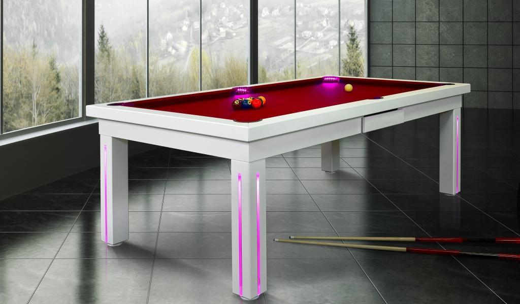 Empire Pearl White Billiards N More - White billiard table