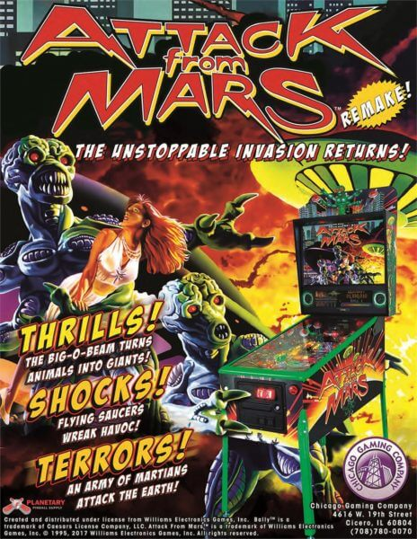 Attack From Mars Standard Edition Brand New Billiards N More