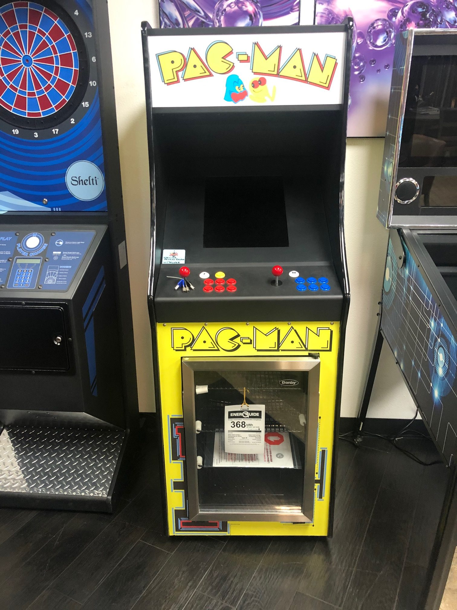 Pacman Arcade Multi Game With Built in Fridge! | Billiards
