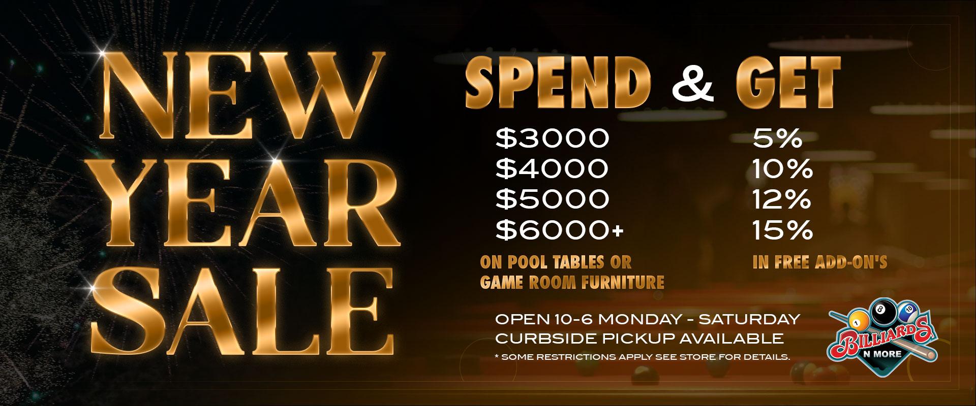 Billiards N More New Year Sale